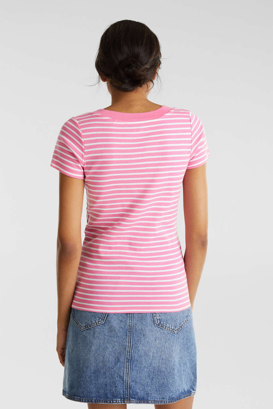 T-shirt containing organic cotton, PINK 4, detail image number 2