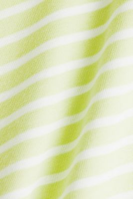 T-shirt containing organic cotton, LIME YELLOW 3, detail