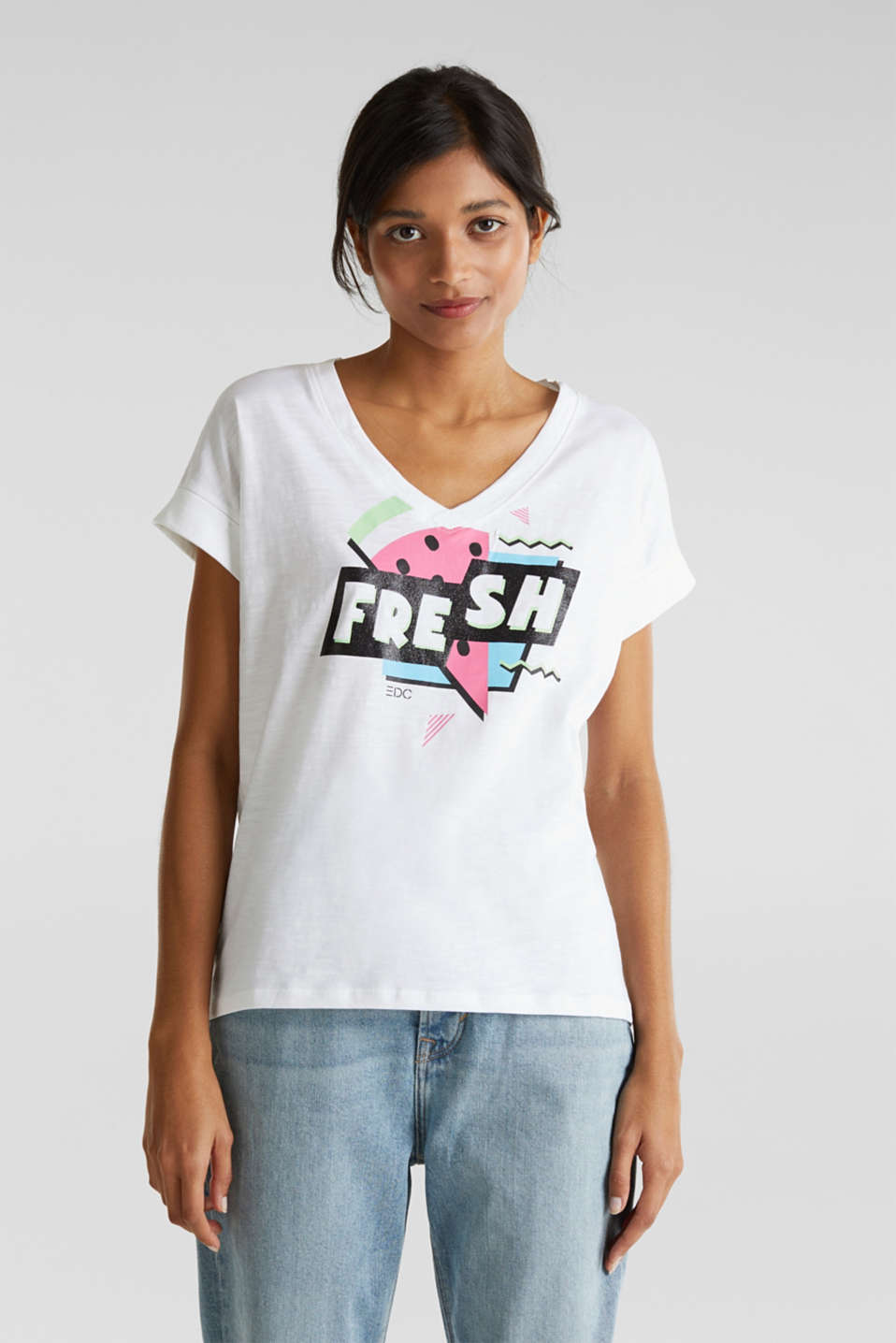 Print t-shirt with organic cotton, WHITE 2, detail image number 0