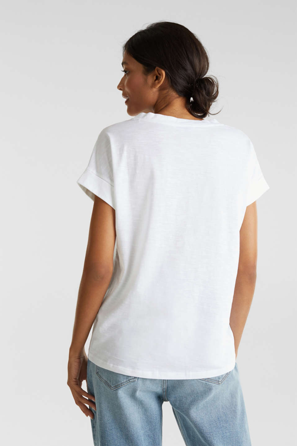 Print t-shirt with organic cotton, WHITE 2, detail image number 3