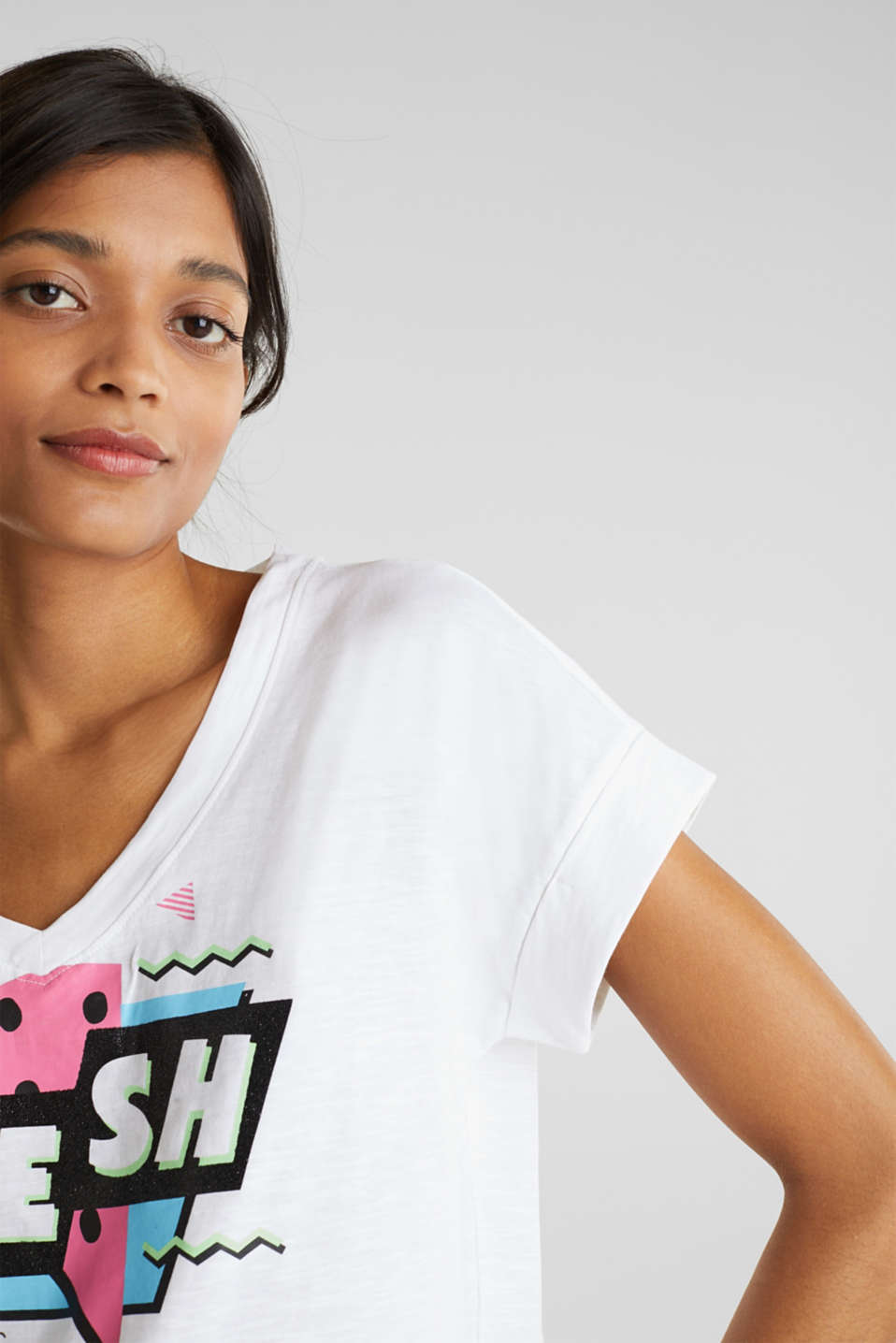 Print t-shirt with organic cotton, WHITE 2, detail image number 2