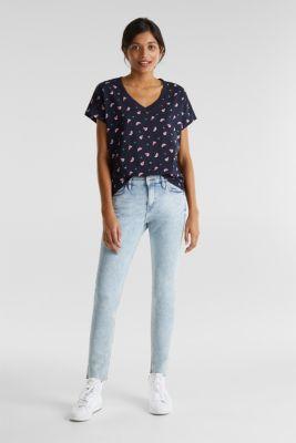 Print t-shirt with organic cotton, NAVY, detail
