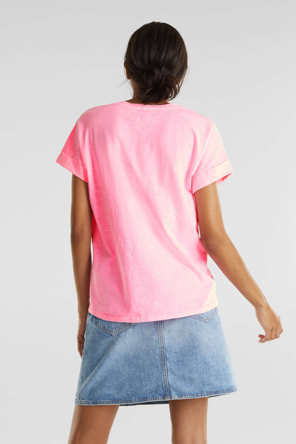 Print t-shirt with organic cotton, PINK, detail image number 2