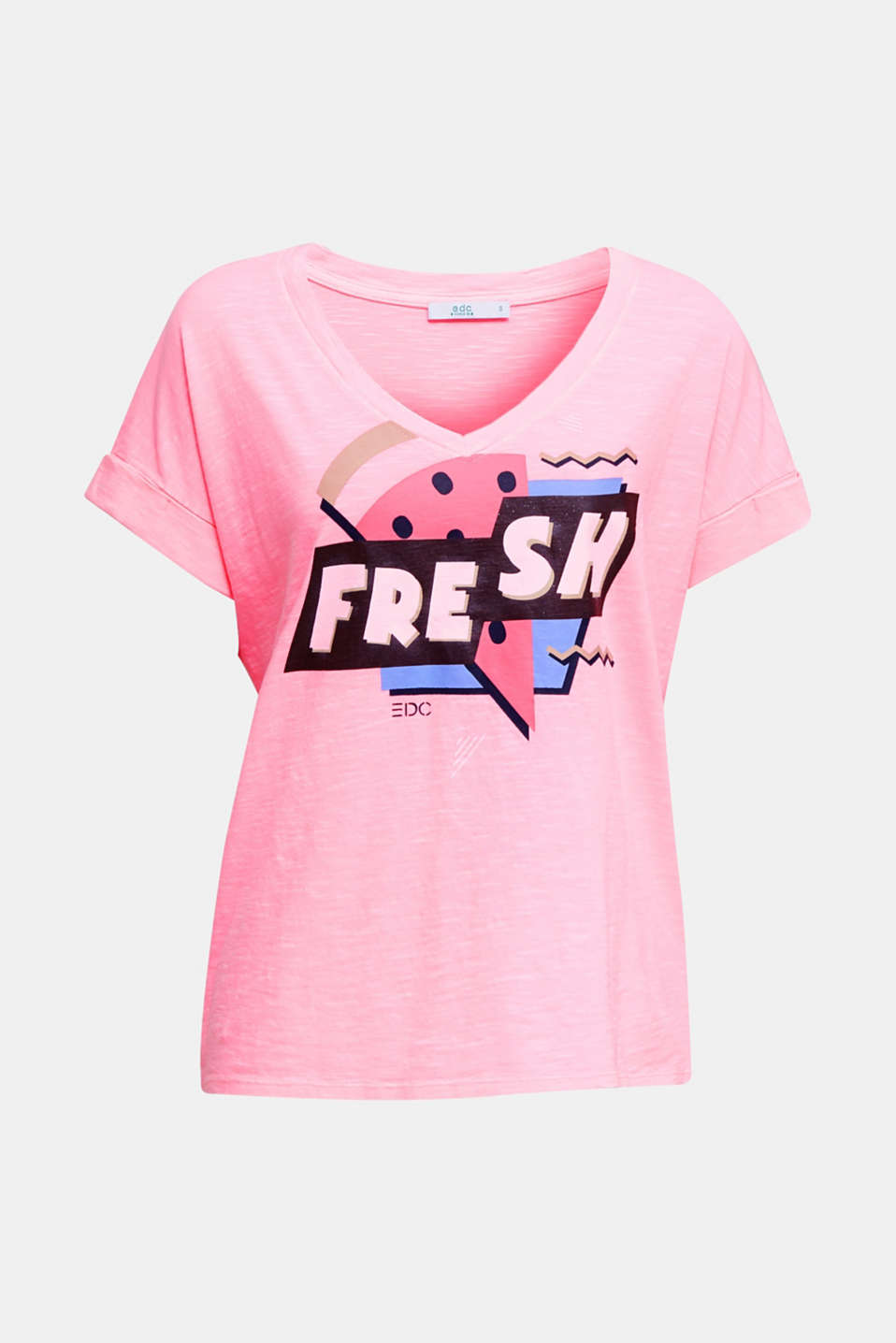 Print t-shirt with organic cotton, PINK, detail image number 5