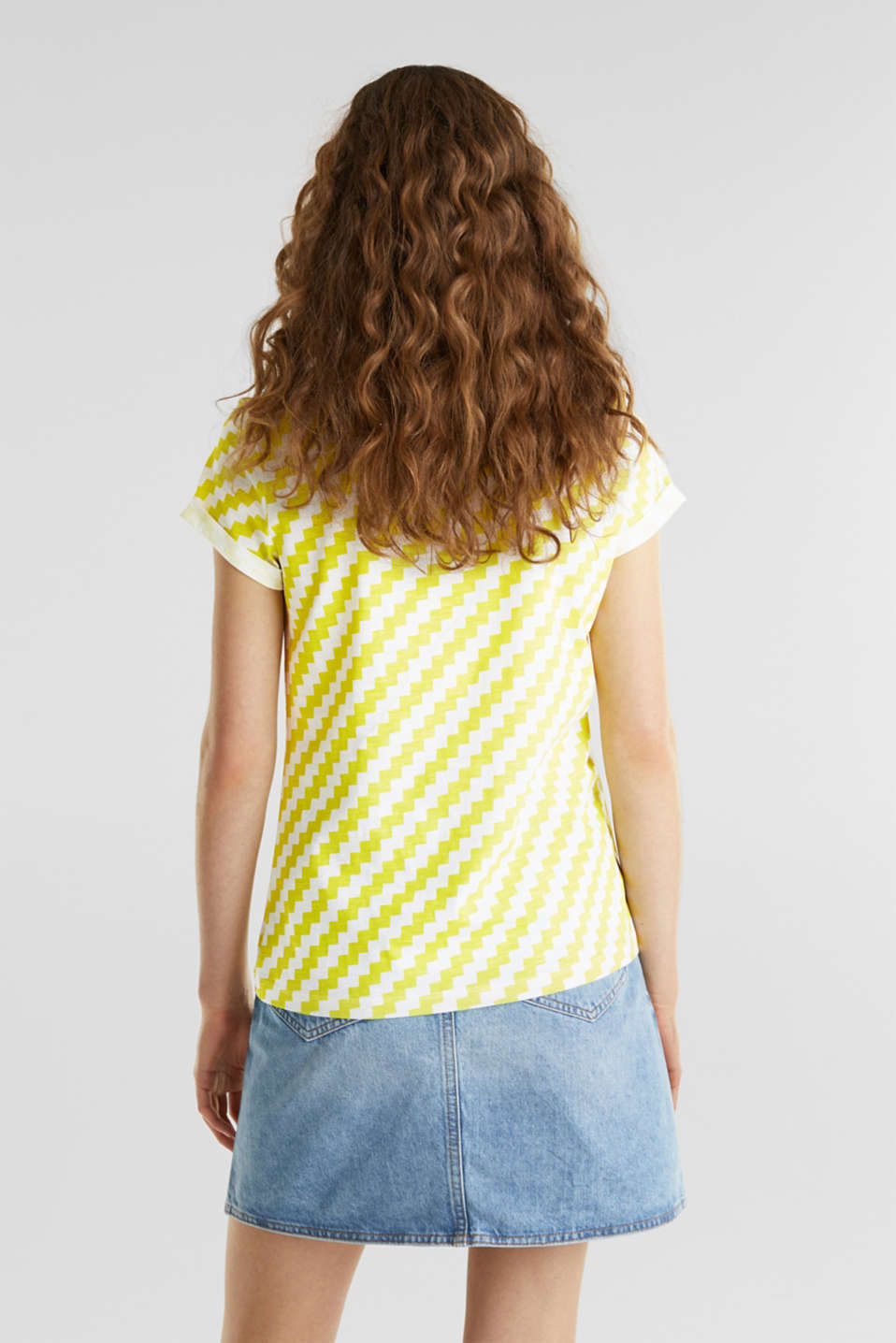 100% cotton T-shirt containing organic cotton, YELLOW, detail image number 3