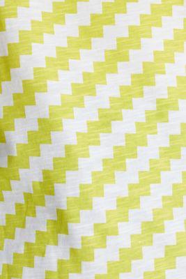 100% cotton T-shirt containing organic cotton, YELLOW, detail
