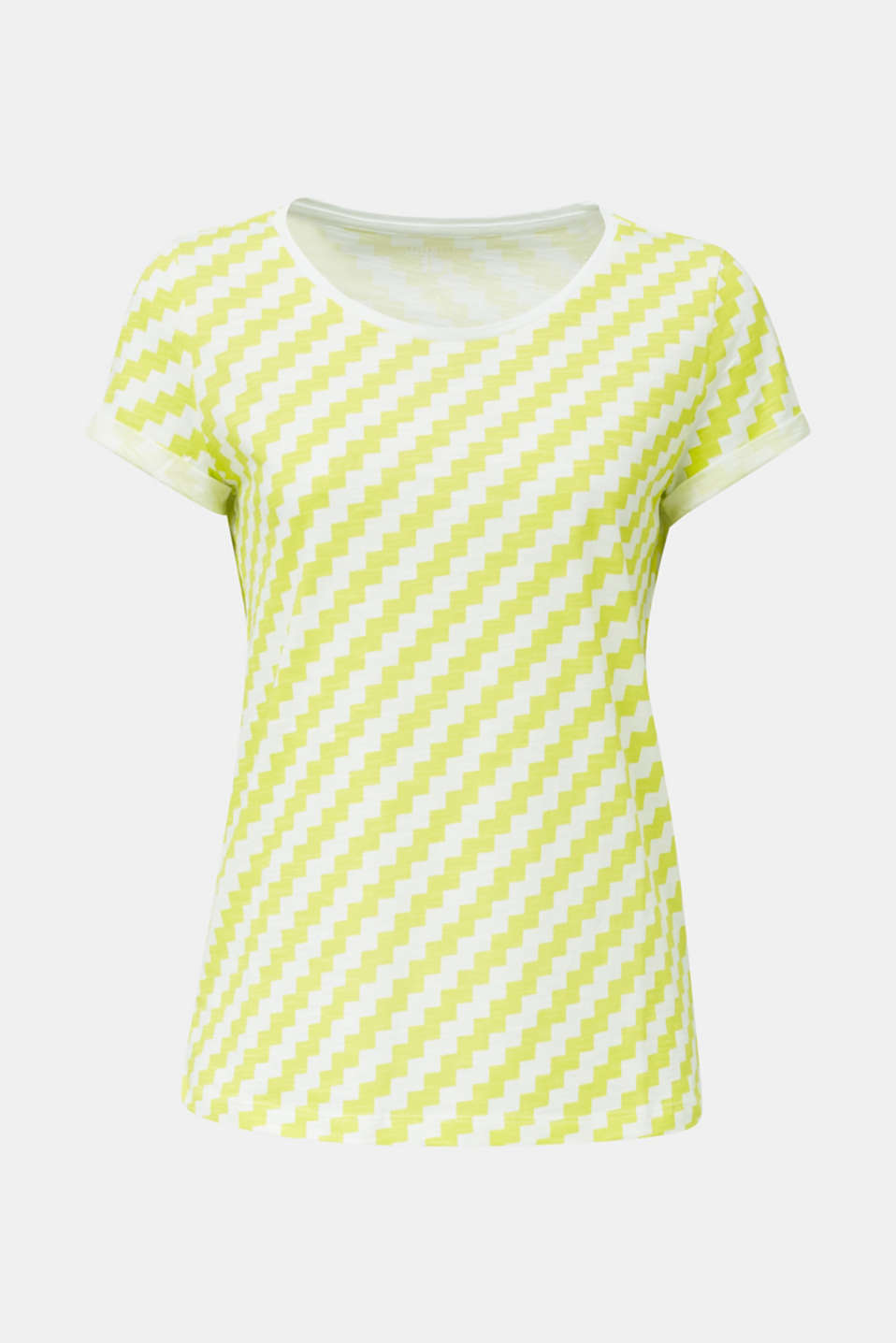 100% cotton T-shirt containing organic cotton, YELLOW, detail image number 6
