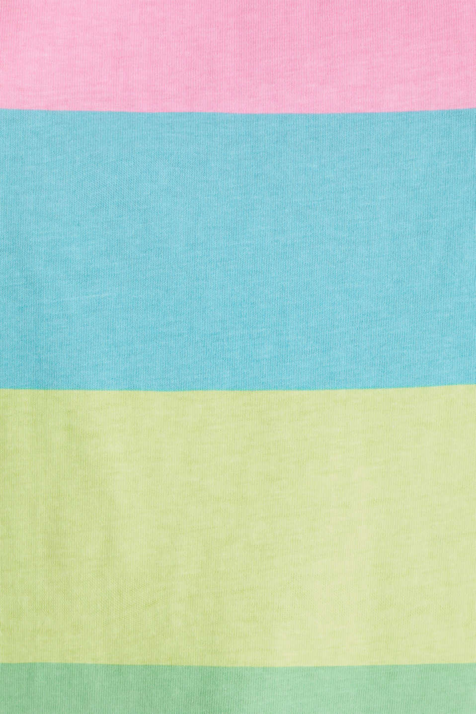 T-shirt with block stripes, 100% cotton, LIME YELLOW, detail image number 3