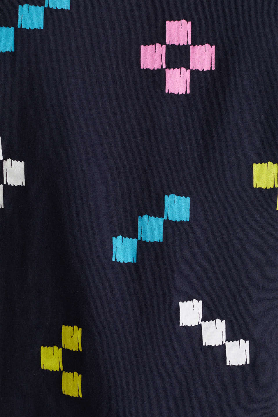 Printed top in 100% cotton, NAVY, detail image number 4