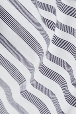 Striped top with a Carmen neckline, NAVY, detail