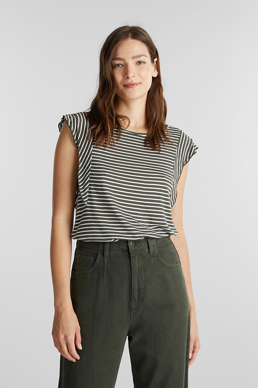 Striped top with glitter