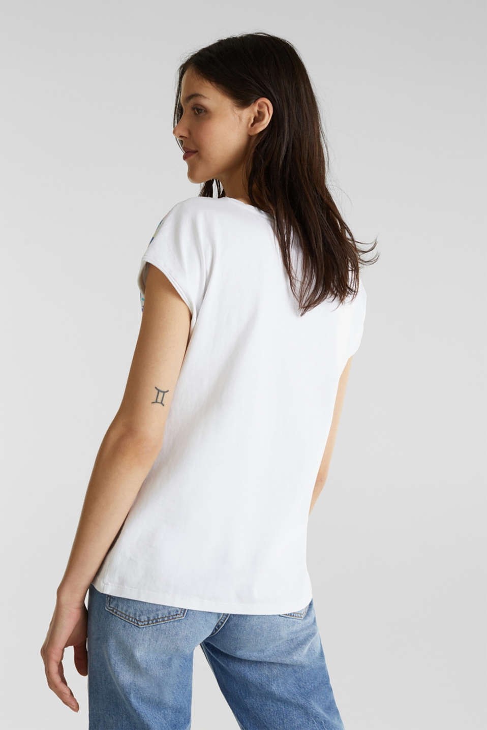 Printed T-shirt, 100% cotton, WHITE, detail image number 2