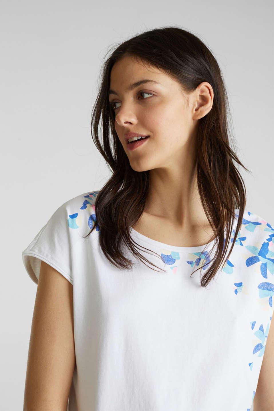 Printed T-shirt, 100% cotton, WHITE, detail image number 4