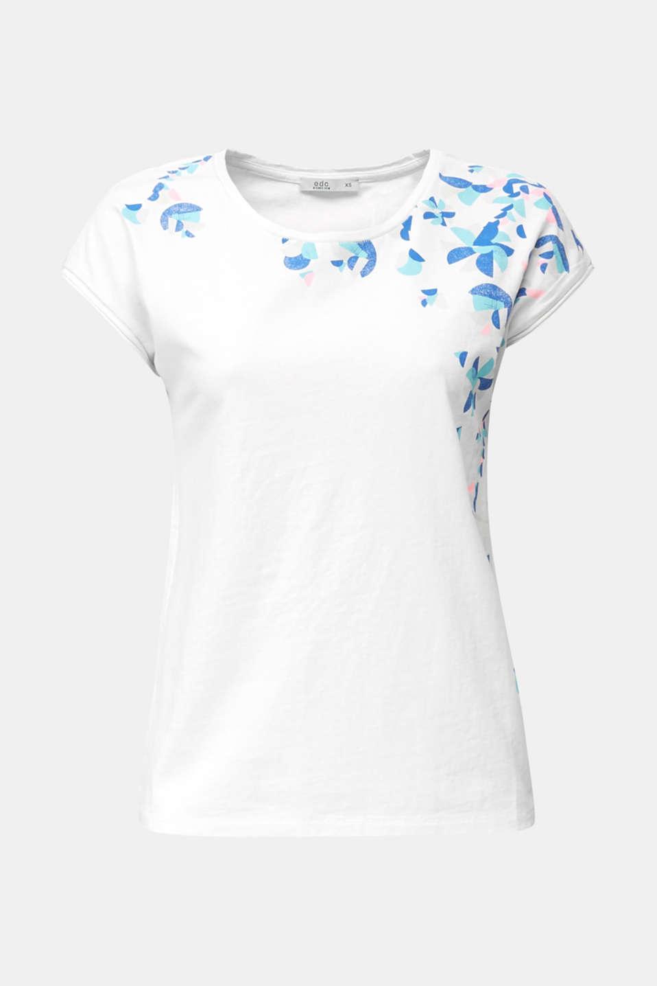 Printed T-shirt, 100% cotton, WHITE, detail image number 5