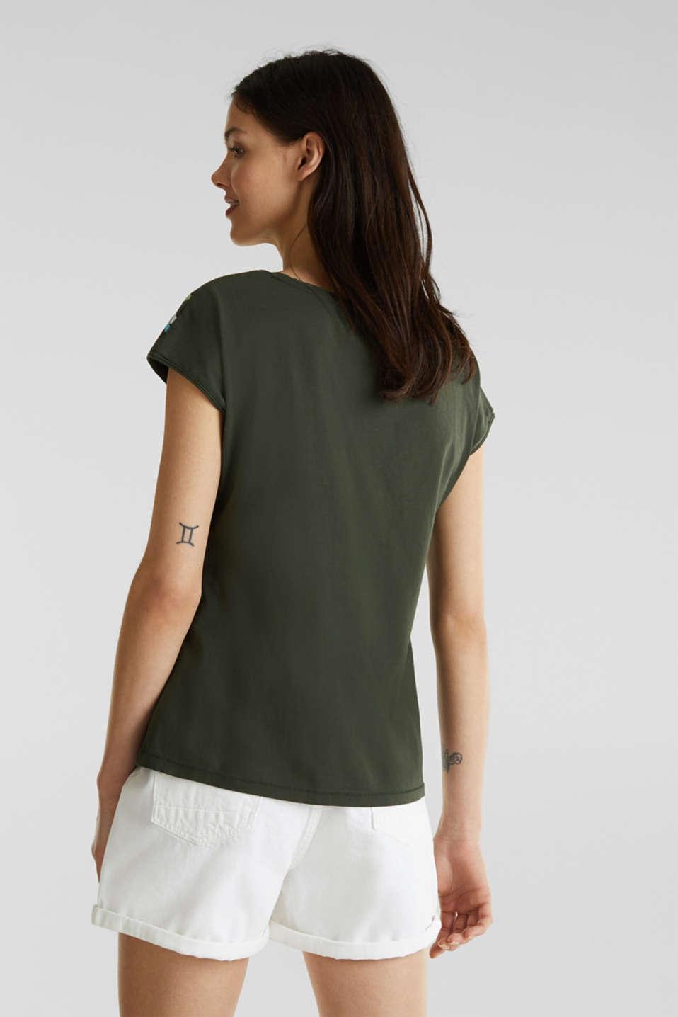 Printed T-shirt, 100% cotton, KHAKI GREEN, detail image number 3