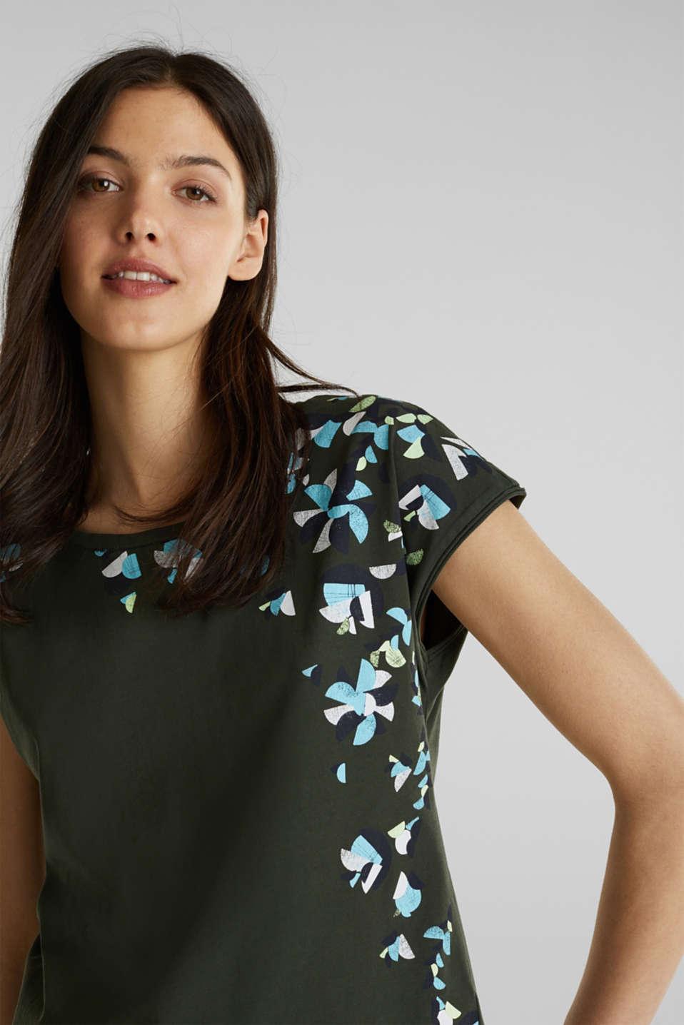Printed T-shirt, 100% cotton, KHAKI GREEN, detail image number 2