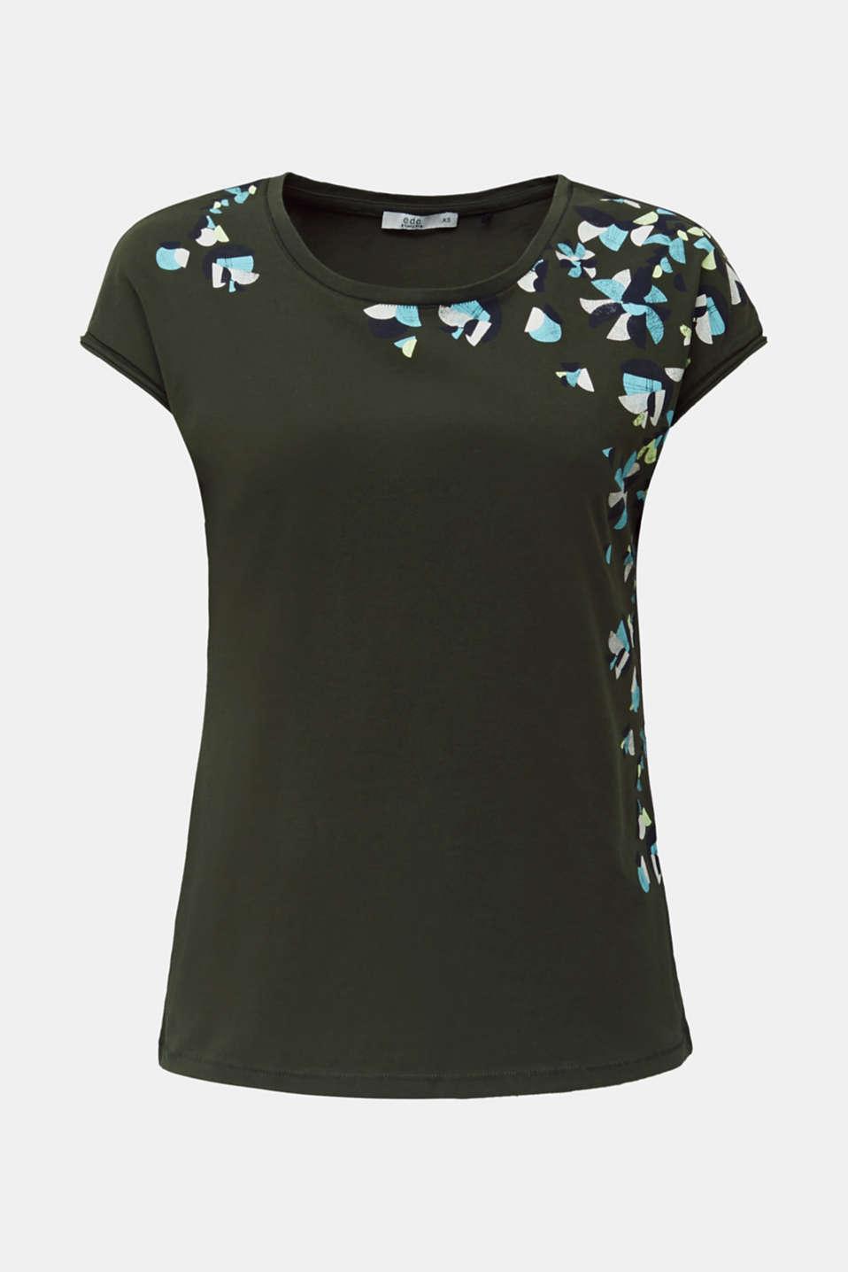 Printed T-shirt, 100% cotton, KHAKI GREEN, detail image number 6