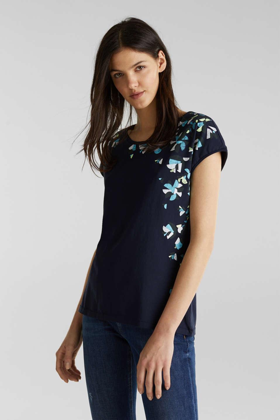 Printed T-shirt, 100% cotton, NAVY, detail image number 0