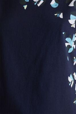 Printed T-shirt, 100% cotton, NAVY, detail