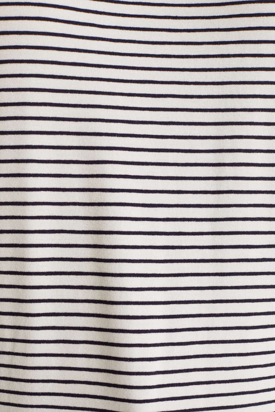 Striped T-shirt with stretch, OFF WHITE 2, detail image number 3