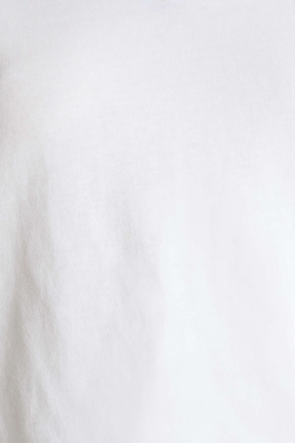 Top with striped edges and organic cotton, WHITE, detail image number 3