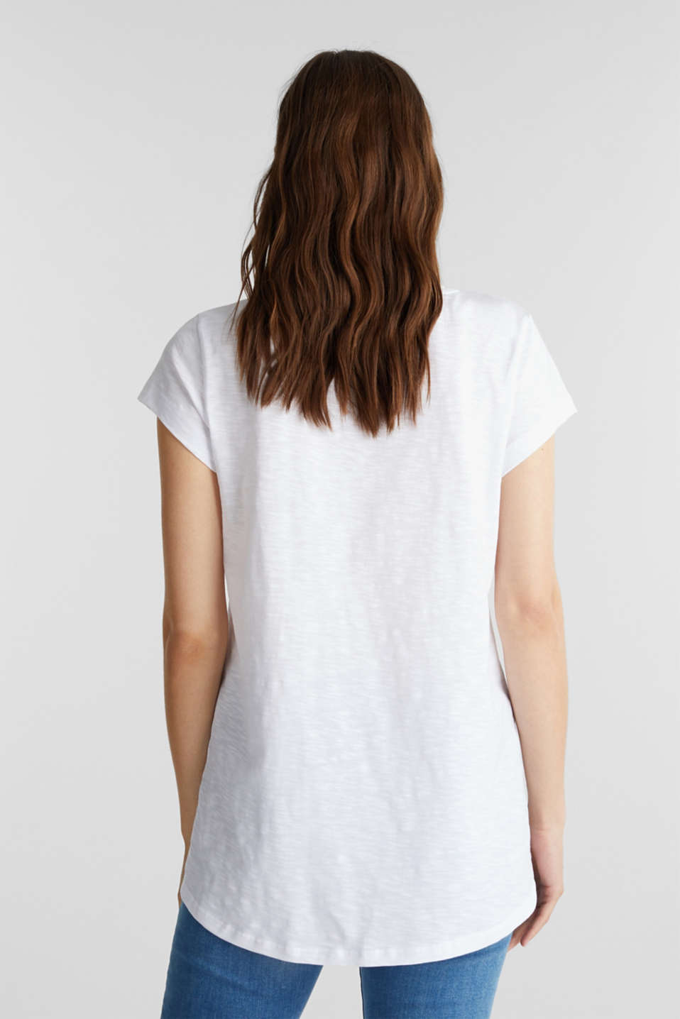 Top with a metallic print, organic cotton, WHITE, detail image number 3
