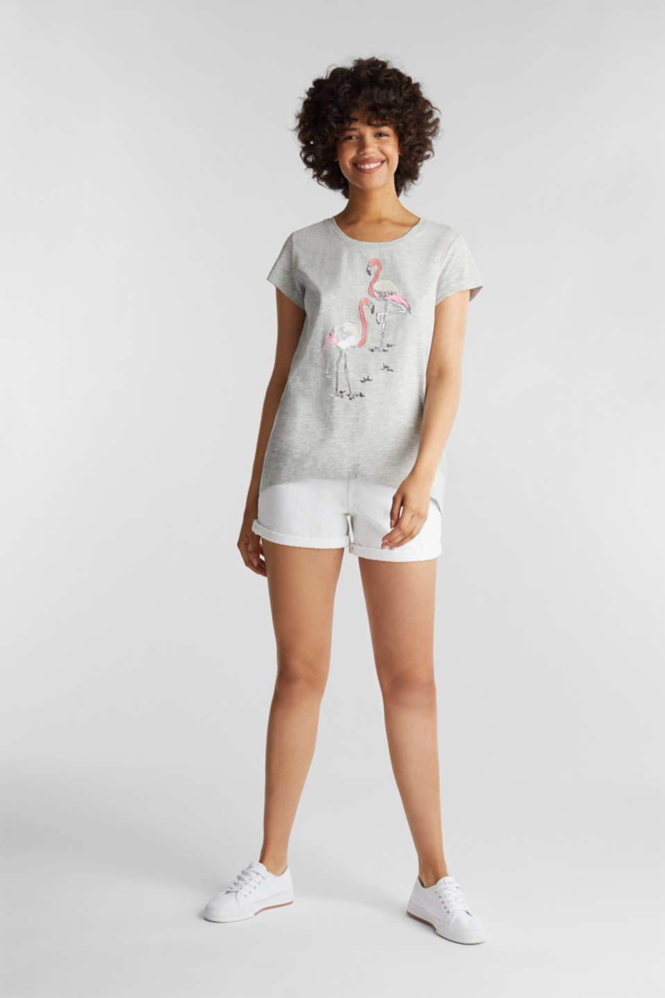 Top with organic cotton, LIGHT GREY 5, detail image number 1