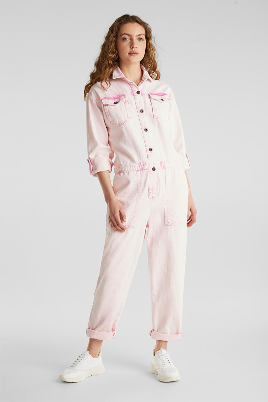 Boiler suit with a vintage garment wash