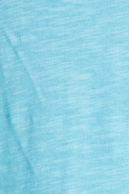 Cotton jersey playsuit, TURQUOISE, detail