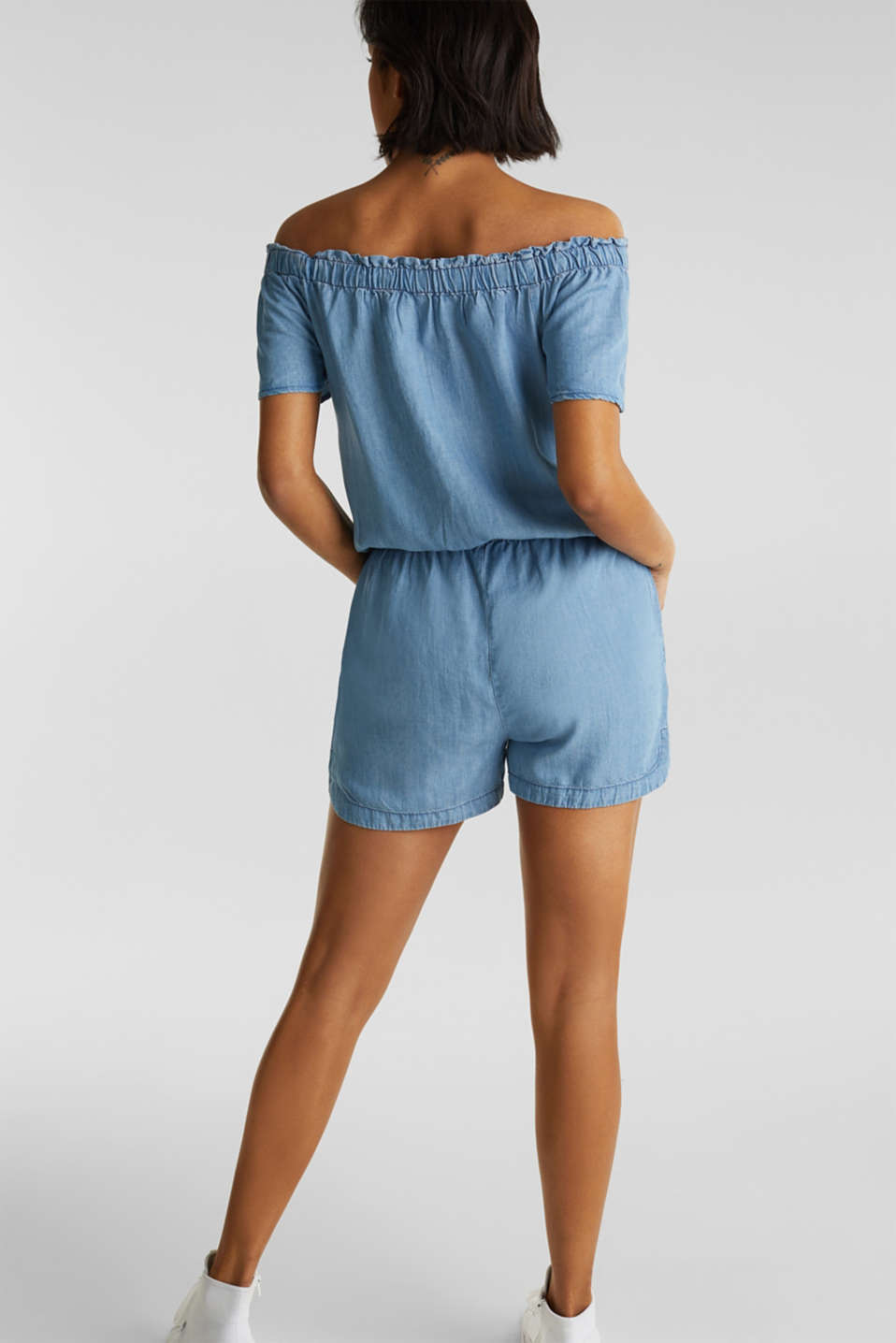Made of TENCEL™: Carmen jumpsuit, BLUE LIGHT WASH, detail image number 1