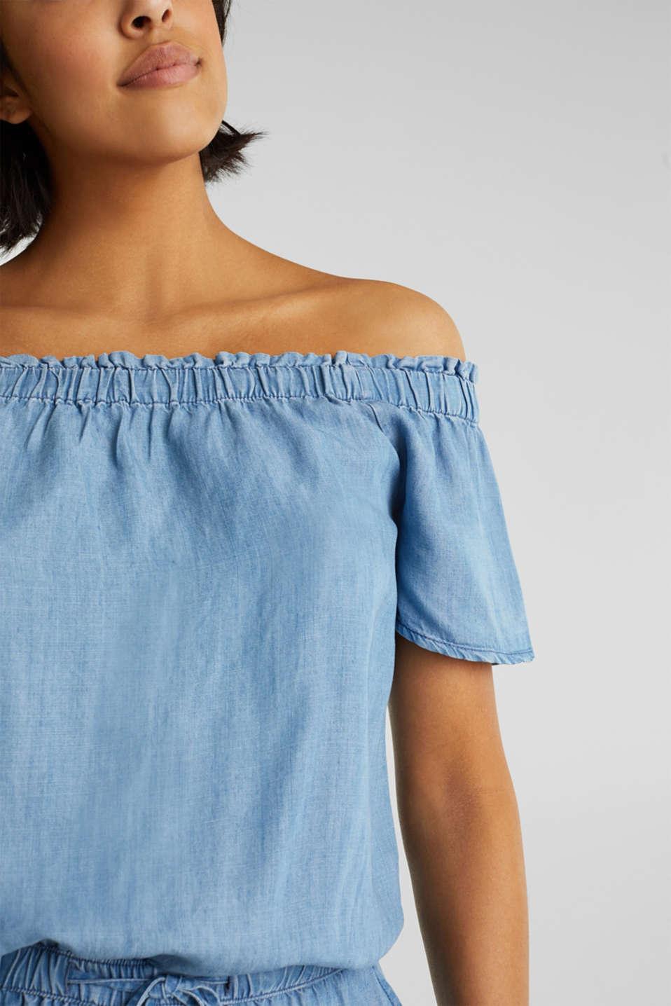 Made of TENCEL™: Carmen jumpsuit, BLUE LIGHT WASH, detail image number 2