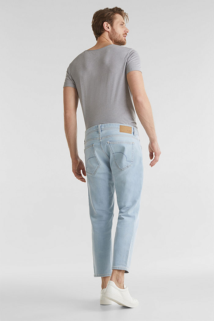 Ankle-length jeans containing organic cotton, BLUE BLEACHED, detail image number 1