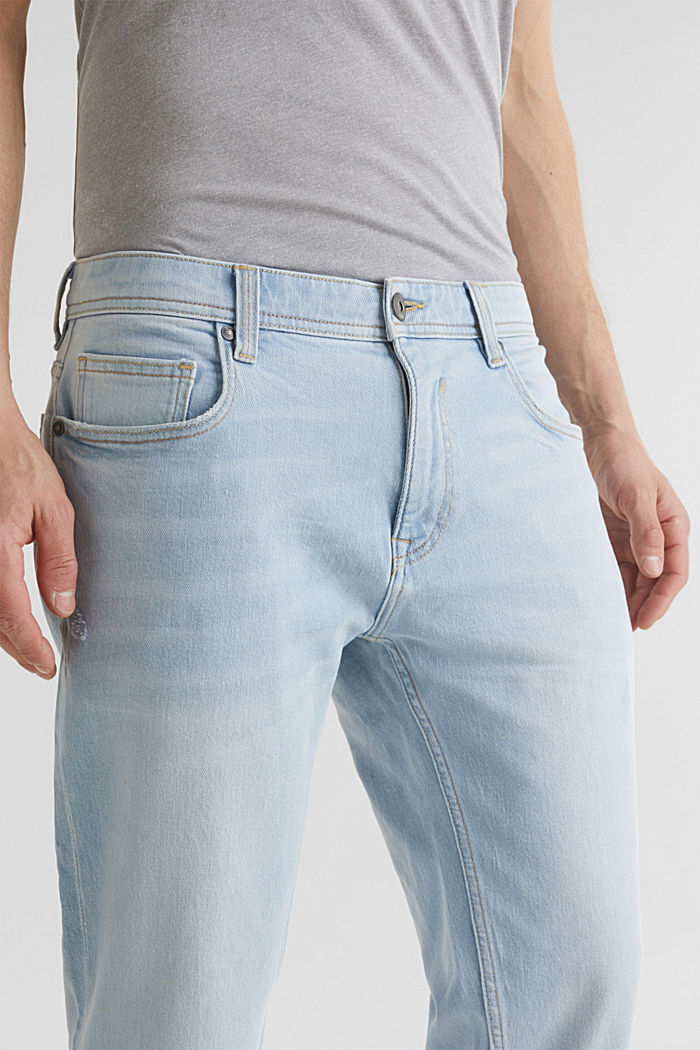 Ankle-length jeans containing organic cotton, BLUE BLEACHED, detail image number 3