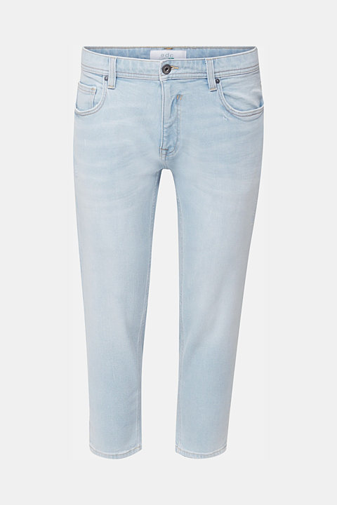 Ankle-length jeans containing organic cotton