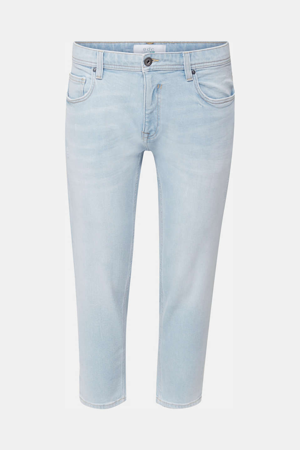 Ankle-length jeans containing organic cotton, BLUE BLEACHED, detail image number 5