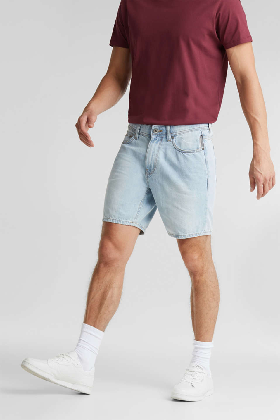 edc - Denim-Short aus 100% Baumwolle