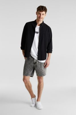 Shorts with organic cotton, GREY MEDIUM WASH, detail