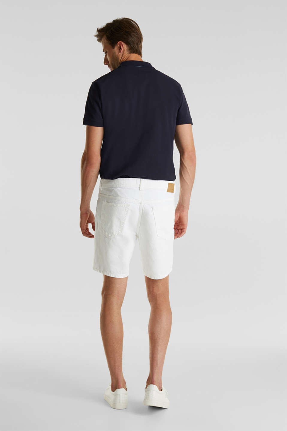 Shorts with organic cotton, WHITE, detail image number 3