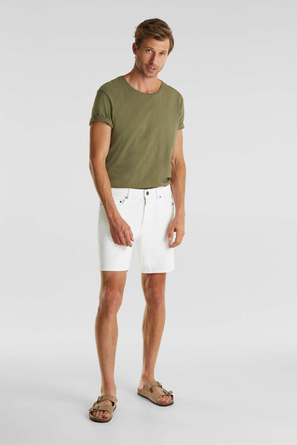 Shorts with organic cotton, WHITE, detail image number 4