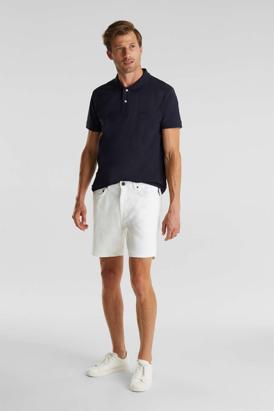 Shorts with organic cotton, WHITE, detail image number 1