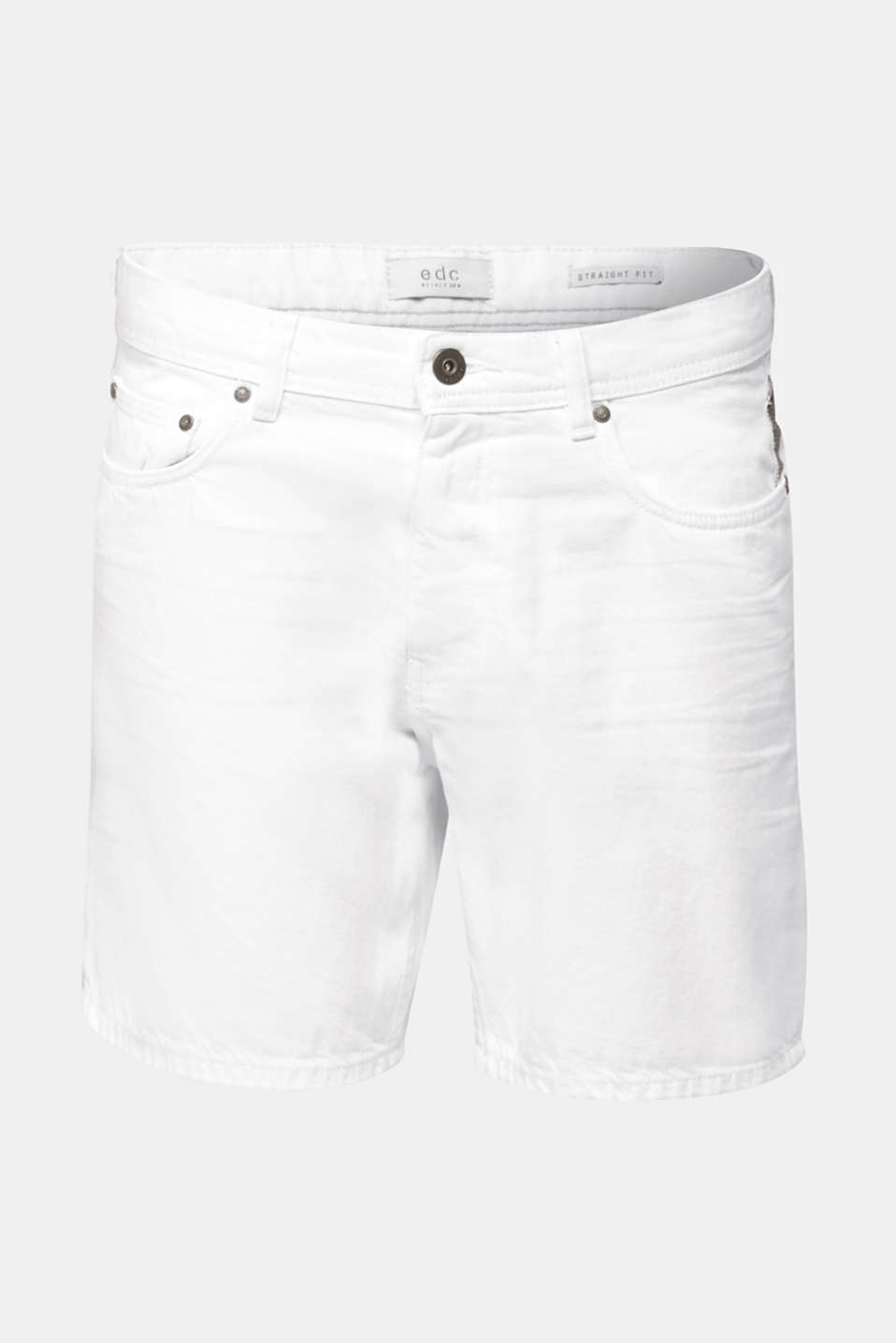 Shorts with organic cotton, WHITE, detail image number 6