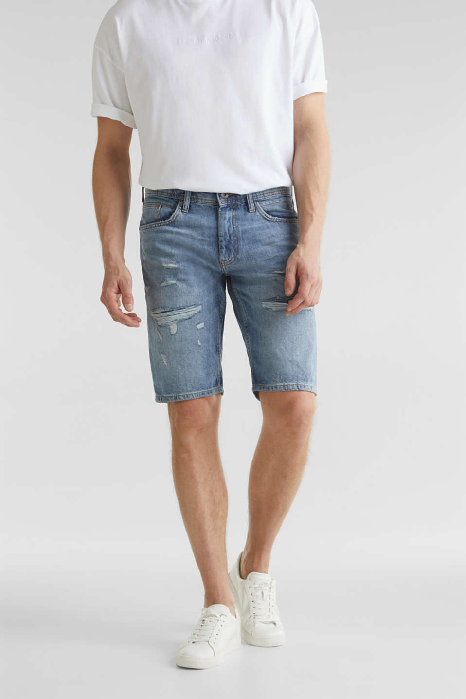 edc - Denim shorts with a vintage finish