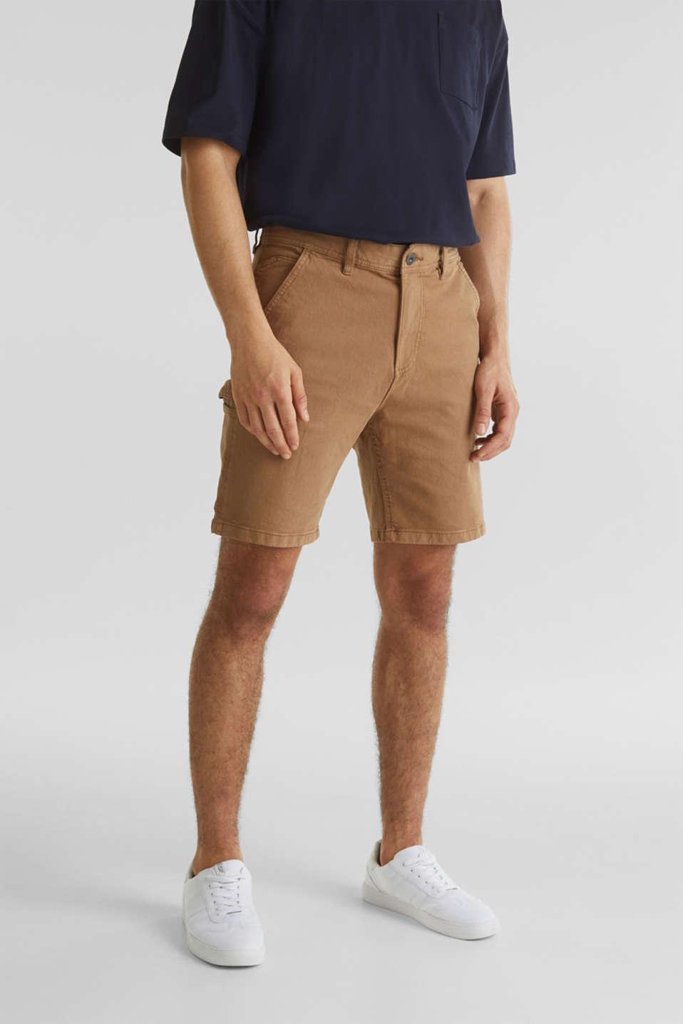 Stretch cargo shorts, CAMEL, detail image number 0
