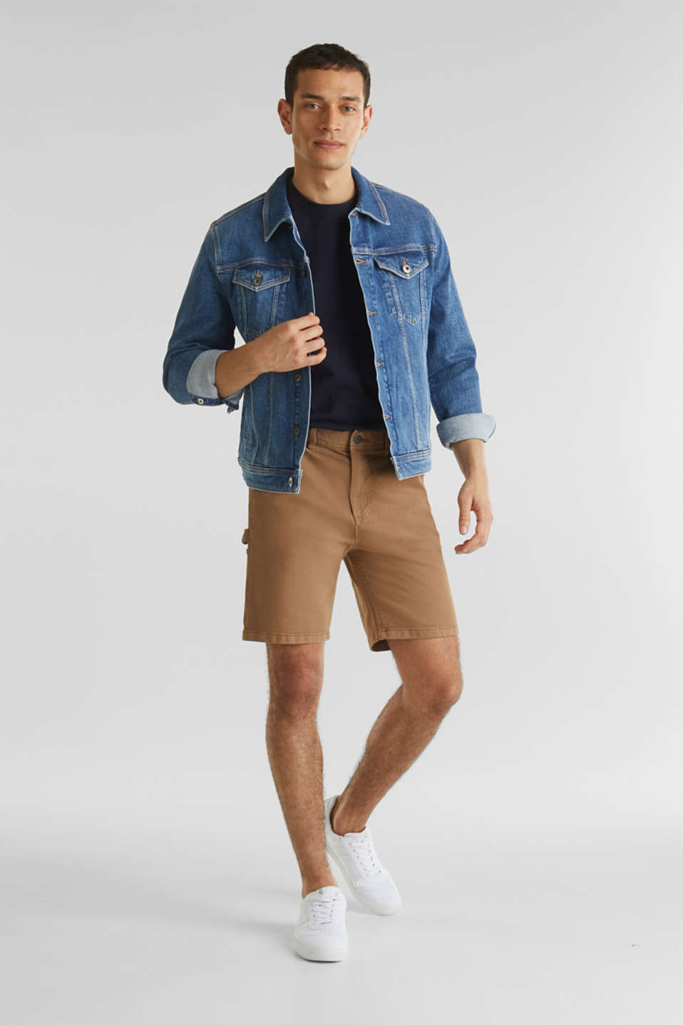 Stretch cargo shorts, CAMEL, detail image number 1