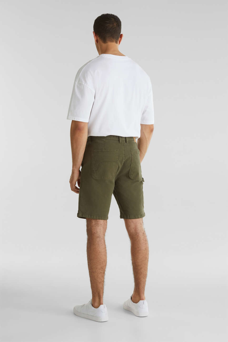 Stretch cargo shorts, KHAKI GREEN, detail image number 3