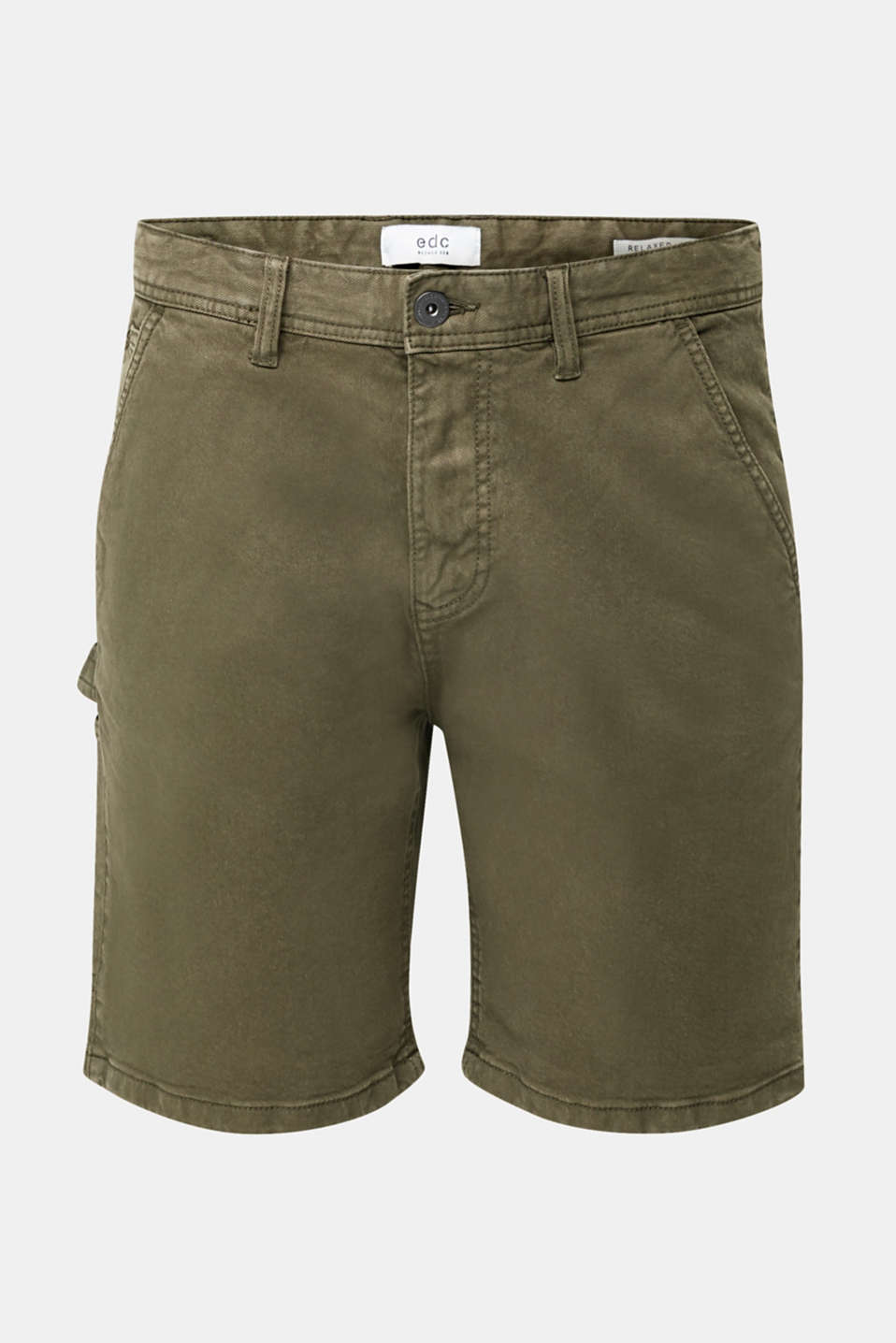 Stretch cargo shorts, KHAKI GREEN, detail image number 6