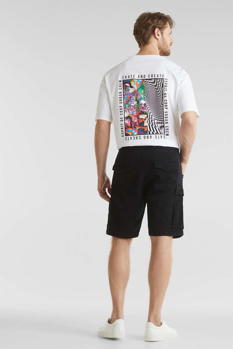 Cargo shorts with organic cotton, BLACK, detail image number 3