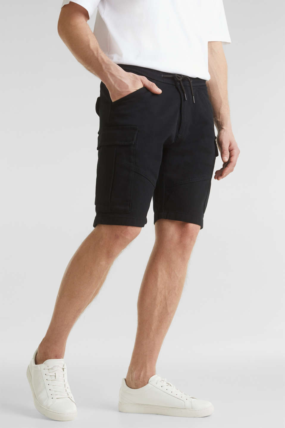 Cargo shorts with organic cotton, BLACK, detail image number 6