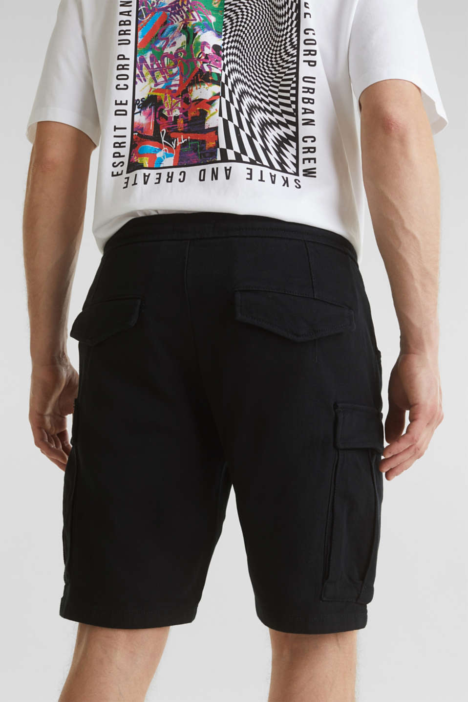 Cargo shorts with organic cotton, BLACK, detail image number 7
