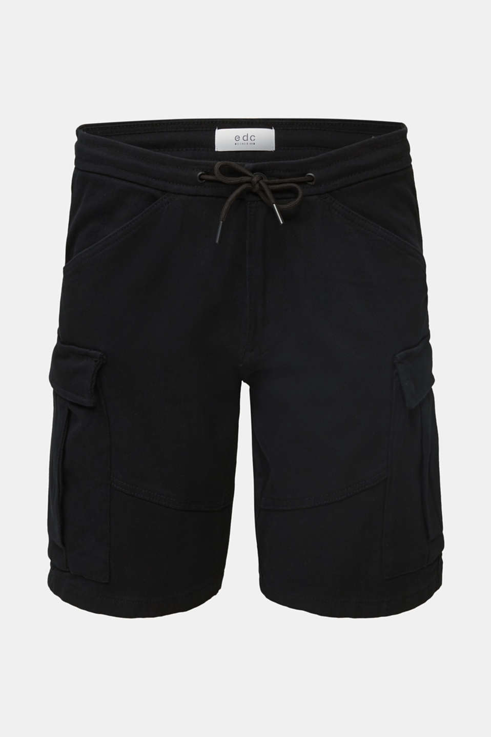 Cargo shorts with organic cotton, BLACK, detail image number 8